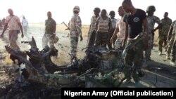 Des armes récupérées des mains de Boko Haram après avoir tenté d'attaquer les villes Dikwa et Mafa, dans l'Etat de Borno, Nigeria, 23 mai 2015.