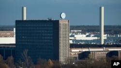 독일 볼프스부르크 시의 폭스바겐 자동차 공장. (자료사진)