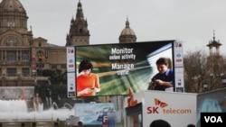En el recinto del Mobile World Congress de Barcelona se juntan los principales fabricantes de celulares para presentar las últimas novedades.