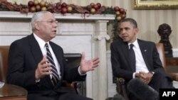Колин Пауэлл и Барак Обама