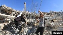 Ruševine bolnice u pokrajini Idlib