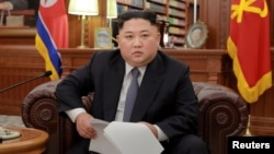 North Korean leader Kim Jong Un poses for photos in Pyongyang in this Jan. 1, 2019, photo released by North Korea's Korean Central News Agency (KCNA).