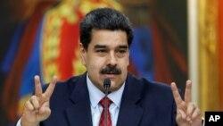 Presidente da Venezuela Nicolás Maduro. Caracas, 25 janeiro, 2019