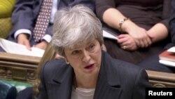 Thủ tướng Anh Theresa May phát biểu tại Quốc hội ở London, ngày 20/3/2019.