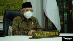 Wapres RI KH. Ma'ruf Amin (Foto: Twitter/@Kiyai_MarufAmin)