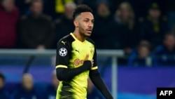L'attaquant gabonais de Dortmund Pierre-Emerick Aubameyang du Borussia Dortmund, Allemagne, 21 novembre 2017.