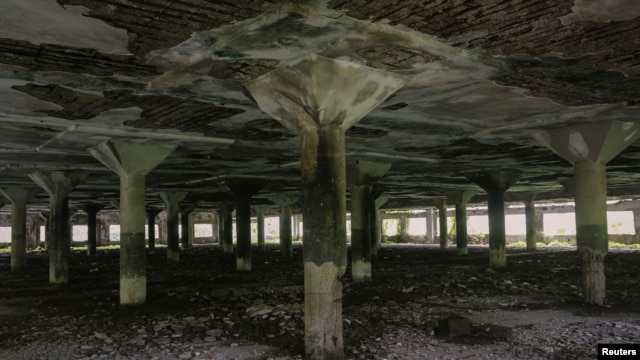 The abandoned textile mill where two women were gang raped in separate incidents in Mumbai, India, August 23, 2013.