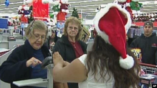 Shoppers in a U.S. store