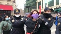 Feministlərin aksiyası. Foto: Türkan Bəşir