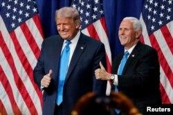 صدر ٹرمپ اور نائب صدر پینس
