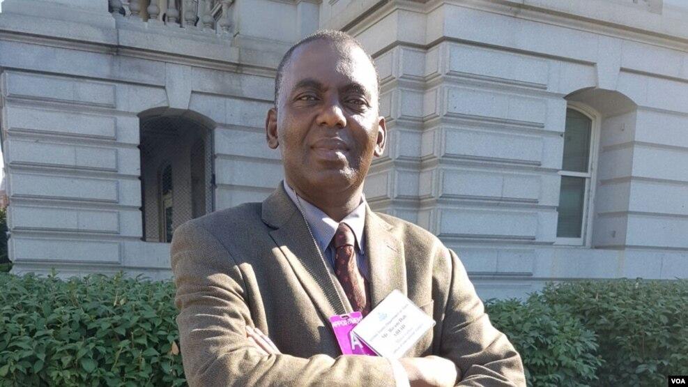 Biram Dah Abeid, Président d'IRA-Mauritanie, à Washington, le 30 juin 2016.