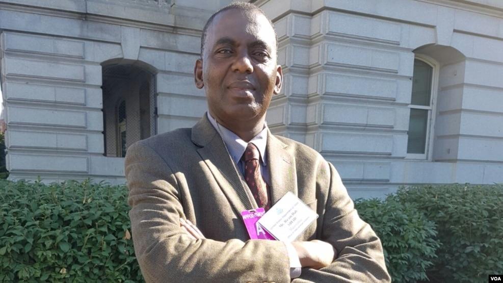 Biram Dah Abeid, Président d'IRA-Mauritanie, à Washington, le 30 juin 2016