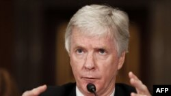Rajan Kroker svedoči o situaciji u Avganistanu na Kapitol Hilu pred senatskim odborom za spoljnopolitičke odnose.