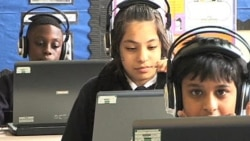 Pupils at Raynham Primary School in London for their after-school math lesson