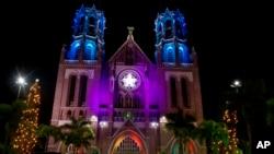 Saint Mary's ဘုရားရွိခိုးေက်ာင္း ခရစ္စမတ္မီးအလွေရာင္စံု၊ ရန္ကုန္
