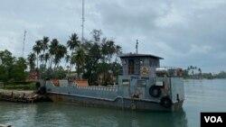 FILE - Ream Naval Base, Preah Sihanouk Province, in February 2021. (Aun Chhengpor/VOA Khmer)