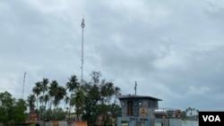 柬埔寨的雲朗海軍基地(2021年2月)。