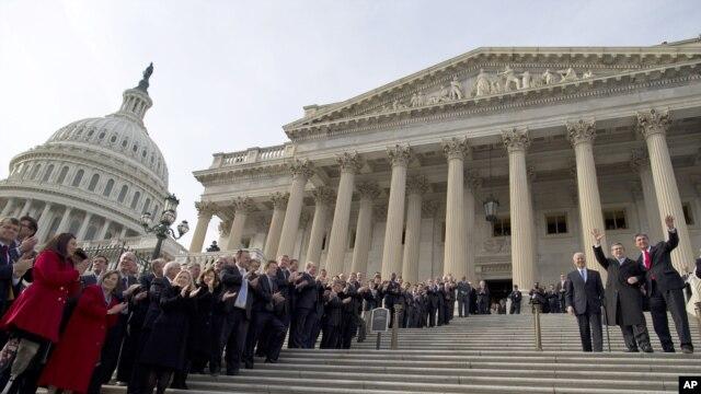 Momento del juramento del nuevo Congreso de Estados Unidos que inicia la legislación 113.