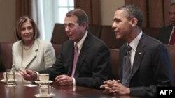 Нэнси Пелоси, Джон Бейнер и Барак Обама