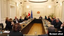 Президент EUCO Шарль Мишель выступает посредником в диалоге между премьер-министром Ираклием Гарибашвили и оппозицией. Фото: Администрация президента Грузии.
