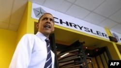 Барак Обама на автозаводе Chrysler