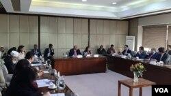 سینیٹ کی خارجہ امور کی کمیٹی کے اجلاس کا ایک منظر