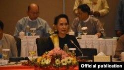 ျပည္ေထာင္စု ၿငိမ္းခ်မ္းေရး ေဆြးေႏြးမႈ ပူးတဲြေကာ္မတီ UPDJC အစည္းအေ၀း (myanmar state counsellor office)