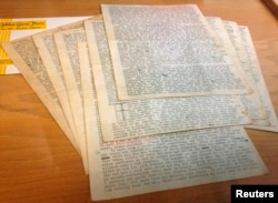 An 18-page letter written by Beat-era icon Neal Cassady, which transformed Jack Kerouac's writing style, is shown in San Francisco, California, Dec. 1, 2014.