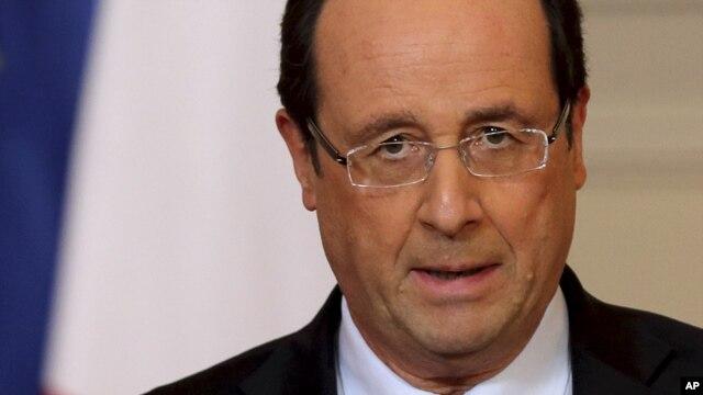 11일 신년연설에서 말리 정부 지원 방침을 밝힌 프랑수아 올랑드 프랑스.