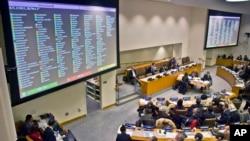 지난 2014년 11월 유엔총회 제3위원회에서 북한인권결의안을 채택했다. (자료사진)