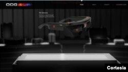 Los anteojos X6 mostrados en el website de la firma Osterhout Design Group, de San Francisco.