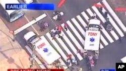 纽约帝国大厦外发生枪击事件(AP Photo/WABC-TV)