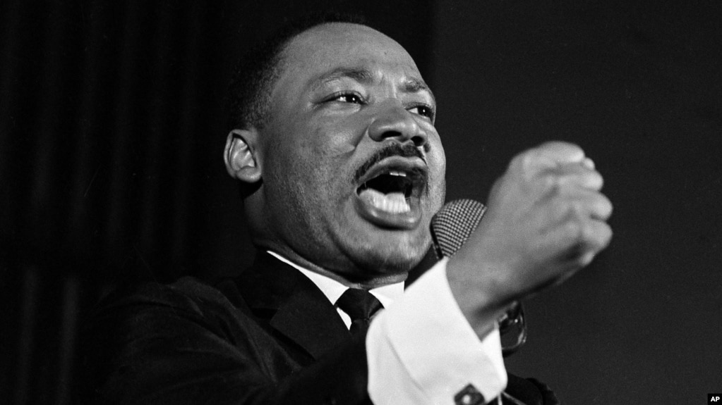 Martin Luther King Jr Shakes His Fist During A Speech In Selma Alabama