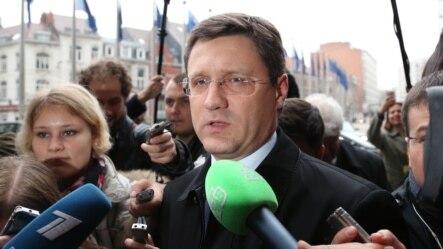 Bộ trưởng Năng lượng Nga Alexander Novak đến dự cuộc đàm phán khí đốt tại trụ sở Ủy hội Châu Âu ở Brussels, ngày 29/10/2014.