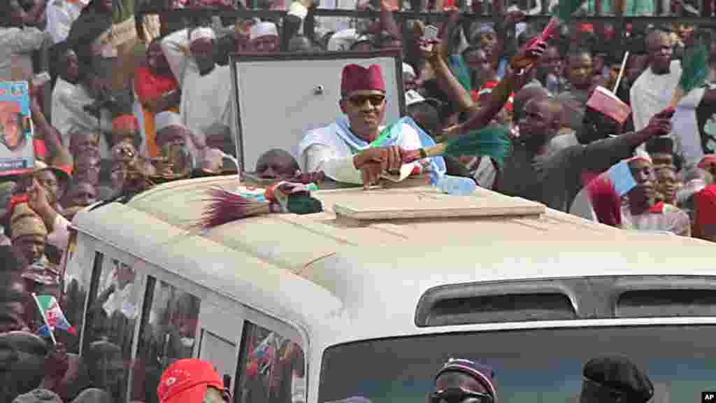 Janar Muhammadu Buhari a Kano, Janairu 20, 2015.