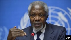 Foto de archivo de Kofi Annan, enviado especial de Naciones Unidos para Siria. Annan dijo haber llegado a un acuerdo con el dictador Bashar Assad para contener la violencia.