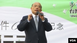 民进党主席苏贞昌美(国之音 张永泰拍摄)