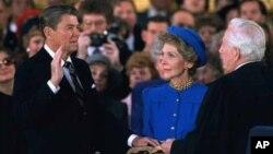 1985年1月里根宣誓就職第二任總統