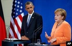 ທ່ານ Obama ພົບປະກັບ ທ່ານນາງ Angela Merkel