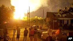 El accidente ocurrió cerca del campus de la universidad de Ohio State y de una zona residencial. Aproximadamente 30 viviendas fueron evacuadas.