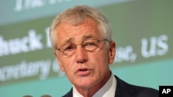 FILE - U.S. Secretary of Defense Chuck Hagel.