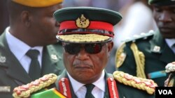 "FILE - Zimbabwe's former head of the army, Constantino Chiwenga, is expected to be appointed as vice president after President Emmerson Mnangagwa retired him this week ""pending redeployment."" (S. Mhofu/VOA)"