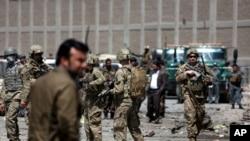 Sojojin Amurka suna binciken wurin da aka kai hari a Kabul babban birnin Afghanistan