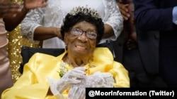 阿蕾丽娅·默菲庆祝114岁生日。