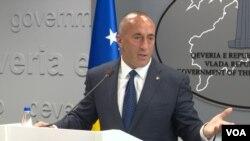 Premijer Kosova u ostavci Ramuš Haradinaj na konferenciji za novinare u Prištini, 29. jul 2019.