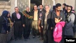 آقای صالحی بعد از آزادی. عکس از توئیتر کمپین حقوق بشر در ایران