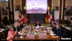 ကေနဒါ ႏုိင္ငံ တိုရြန္တိုၿမိဳ႕မွာ က်င္းပတဲ႔ စက္မႈထိပ္သီး ၇ ႏိုင္ငံရဲ႕ G7 စည္းေ၀းပြဲ (ဧၿပီ-၂၀၁၈)