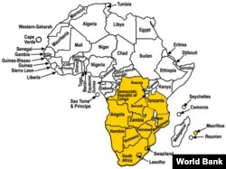Map of SADC (World Bank)