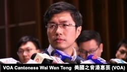 香港民主派立法会议员区诺轩 (美国之音/汤惠芸)