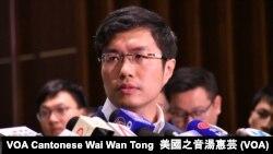 香港民主派立法會議員區諾軒 (攝影:美國之音湯惠芸)